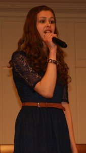 "Breanna Alyssa takes the stage to perform ""Bubbly"" and ""I Was Born Yesterday"" Photo By Daniel Smrokowski"